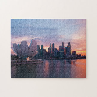 Marina area and Skyline Singapore. Jigsaw Puzzle