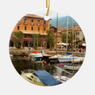 Marina at Menaggio, Lake Como Ceramic Ornament