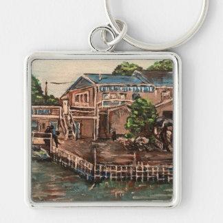 "Marina at Portside, Kelley's Island""  Keychain"