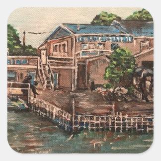 """""""Marina at Portside, Kelley's Island, Ohio Sticker"""