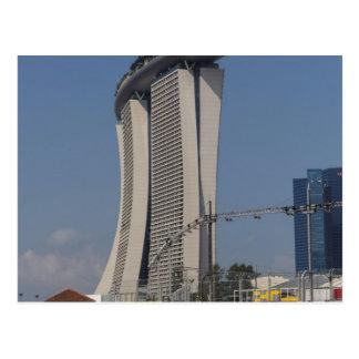 Marina Bay Sands hotel and lighting equipment Post Card