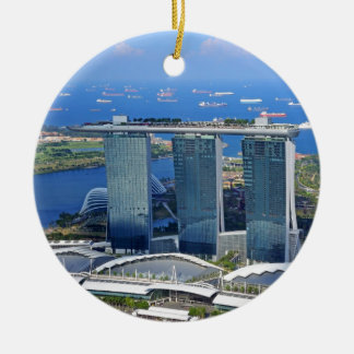 Marina Bay Sands luxury ship shaped hotel Ceramic Ornament