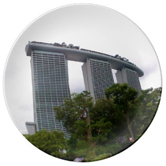 Marina Bay, Singapore,  Decorative Porcelain Plate