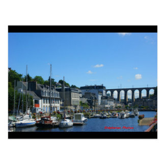 Marina D eMorlaix and the BRITTANY viaduct Postcard