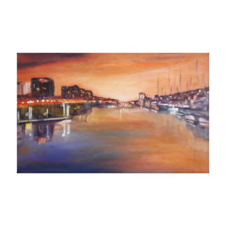Marina del Rey at Night Canvas Print