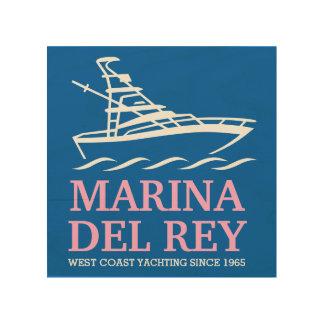 Marina Del Rey Wood Canvas