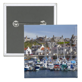 Marina, Findochty, Moray, Scotland, United 2 Inch Square Button