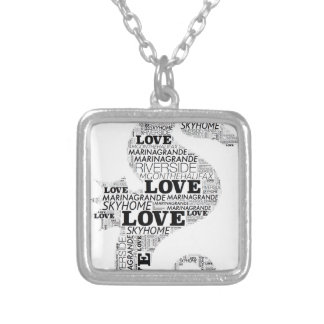Marina Grande Love Seahorse Silver Plated Necklace