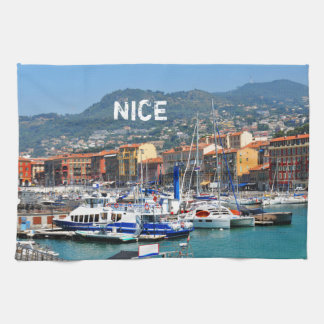 Marina in Nice, France Hand Towels