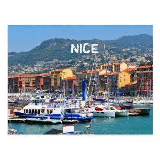 Marina in Nice, France Postcard