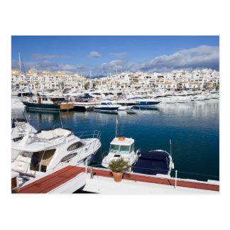 Marina in Puerto Banus in Spain Postcard