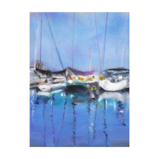 Marina Reflections Canvas Print