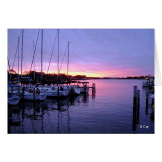 Marina Sunset, S Cyr Card
