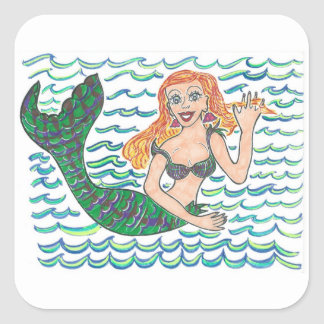 Marina The Mermaid Square Sticker