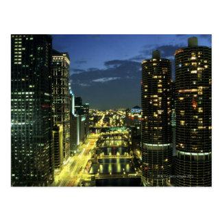 Marina Towers Chicago River Wacker Drive Post Card