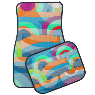 Marine abstraction car mat