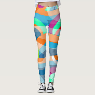 Marine abstraction leggings