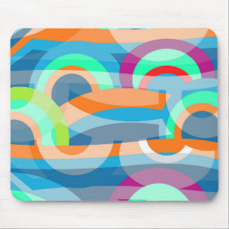Marine abstraction mouse pad