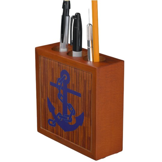 Marine anchor pencil holder
