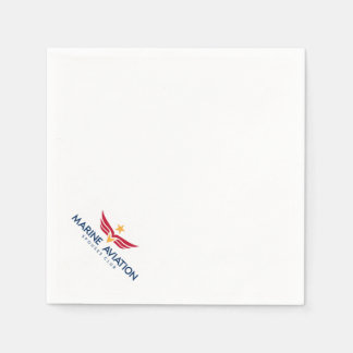 Marine Aviation Spouses Club Logo Cocktail Napkins Paper Napkins