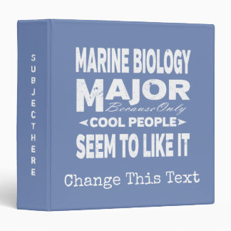 Marine Biology College Major Only Cool People 3 Ring Binders