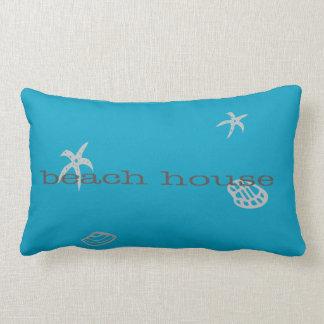 Marine Blue Beach House Nautical Theme Pillow
