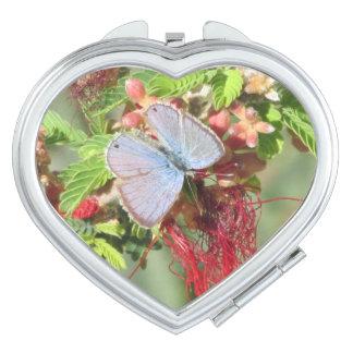 Marine Blue Butterfly Vanity Mirror