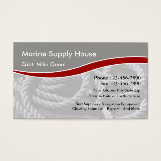Marine Boating Supply Business Card