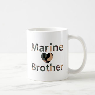 Marine Brother Heart Camo Coffee Mug