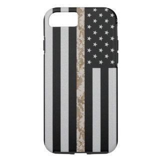 Marine Corps Thin Desert Camo Line Flag iPhone 7 Case-Mate iPhone Case