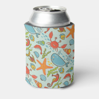 Marine Creature Pattern Can Cooler