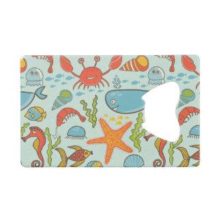 Marine Creature Pattern Credit Card Bottle Opener