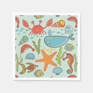 Marine Creature Pattern Disposable Napkin