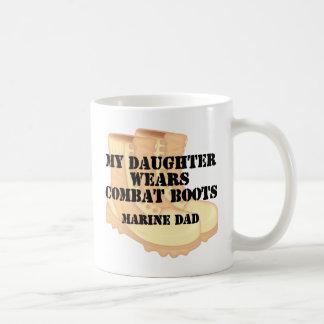 Marine Dad Dauaghter wears DCB Coffee Mug