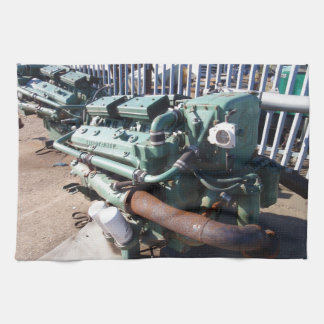 Marine Diesel Engine Kitchen Towel