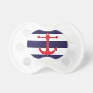 Marine et motif nautique rouge tétines pour bébé