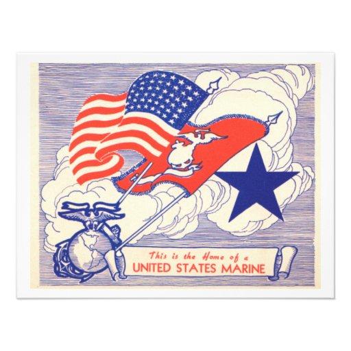 Marine Family Support Gifts Custom Invite