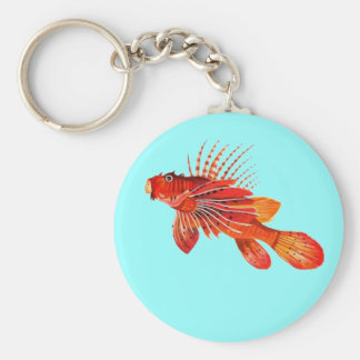 Marine Fire Fish or Lionfish Keychain