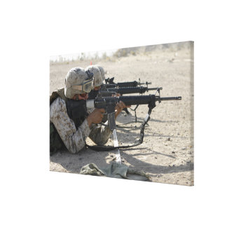 Marine fires their M16A2 service rifles Canvas Print