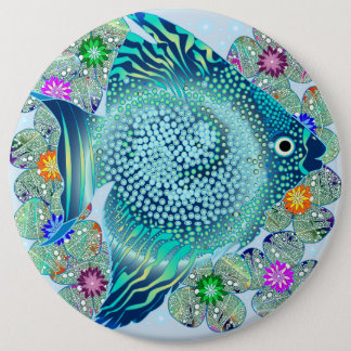 Marine Fish Aquarium 6 Inch Round Button