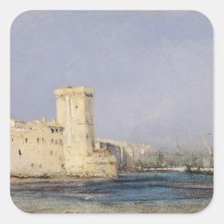Marine Fortress, 19th century Square Sticker