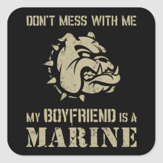 Marine Girlfriend Square Sticker