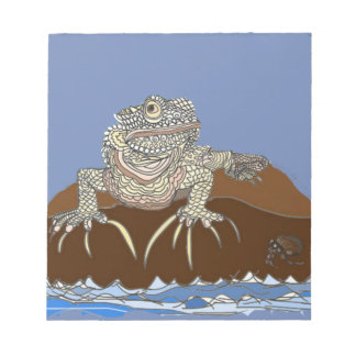 Marine Iguana on Rock with Hermit Crab Notepad