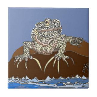 Marine Iguana on Rock with Hermit Crab Tile