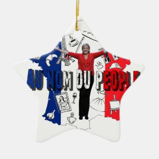 Marine Le Pen Ceramic Star Ornament