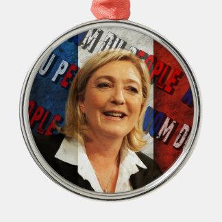 Marine Le Pen Metal Ornament