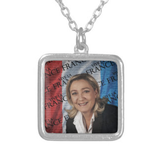 Marine Le Pen Silver Plated Necklace