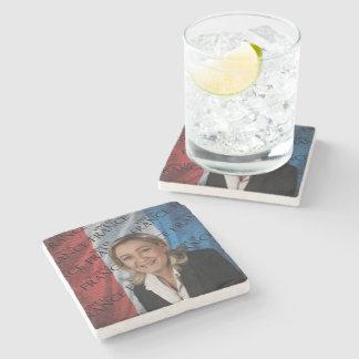 Marine Le Pen Stone Coaster