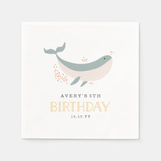 Marine Life Birthday Party Paper Napkin