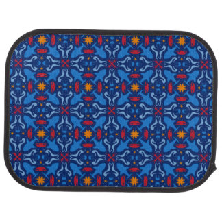 Marine life blue pattern car mat